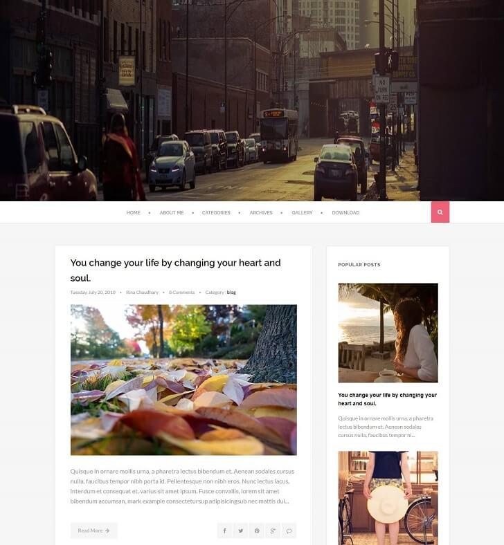 Scratch за Blogger в стил WordPress