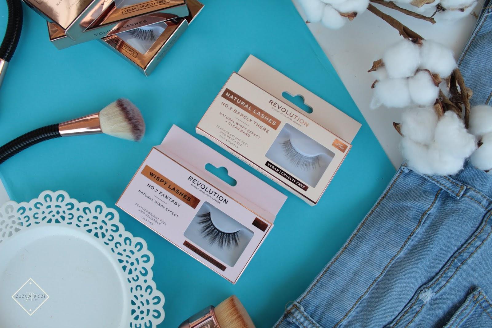sztuczne rzęsy na pasku makeup revolution