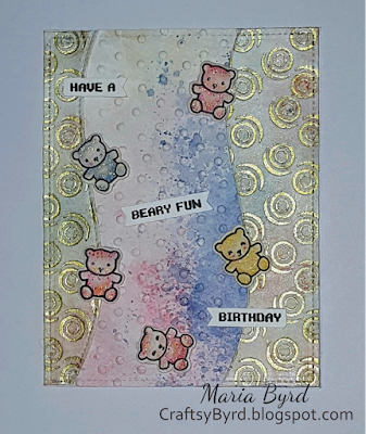 Lawn Fawn Beary Birthday Card by Maria Byrd | CraftsyByrd.blogspot.com
