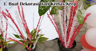Buat Dekorasi Dari Kertas Krep merupakan salah satu ide dekorasi 17an unik yang mudah dibuat