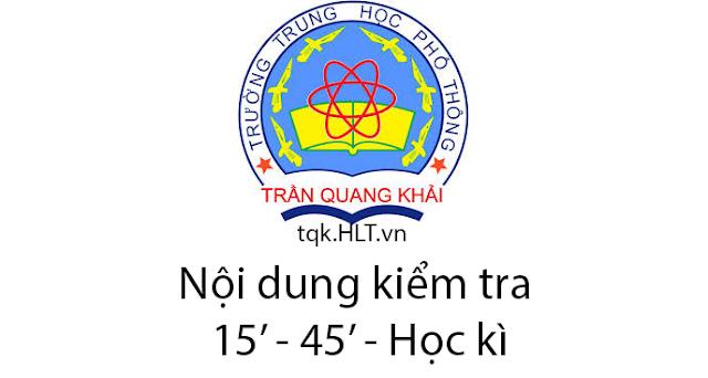 Nội dung kiểm tra môn Địa Lý trường THPT Trần Quang Khải (Năm học 2019-2020)