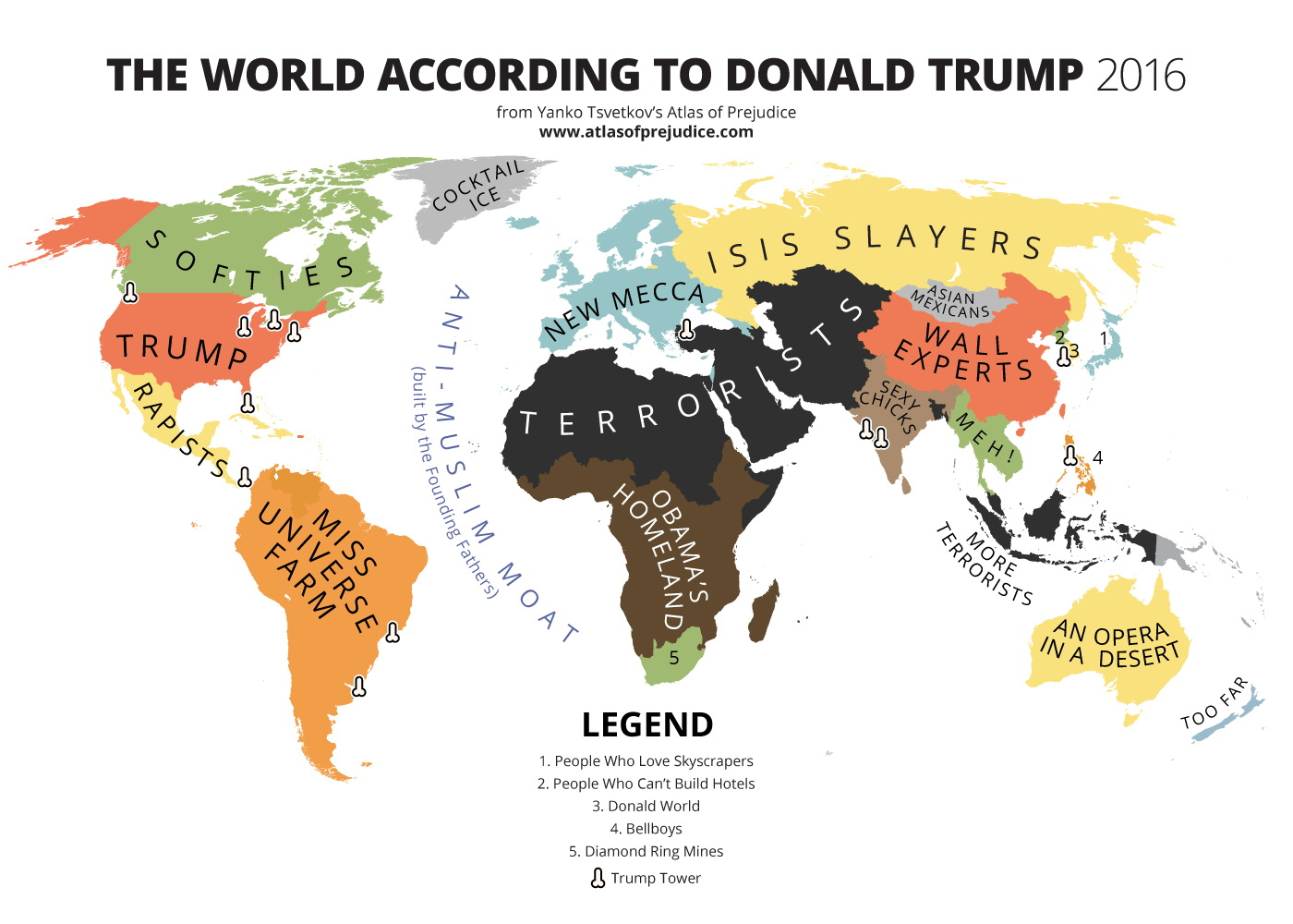 The worlds according to Donald Trump - 2016