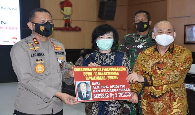 Keluarga Alm Akidi Tio Pengusaha asal Aceh Beri Hibah 2 Triliun ke Polda Sumsel untuk Penanganan Covid 19