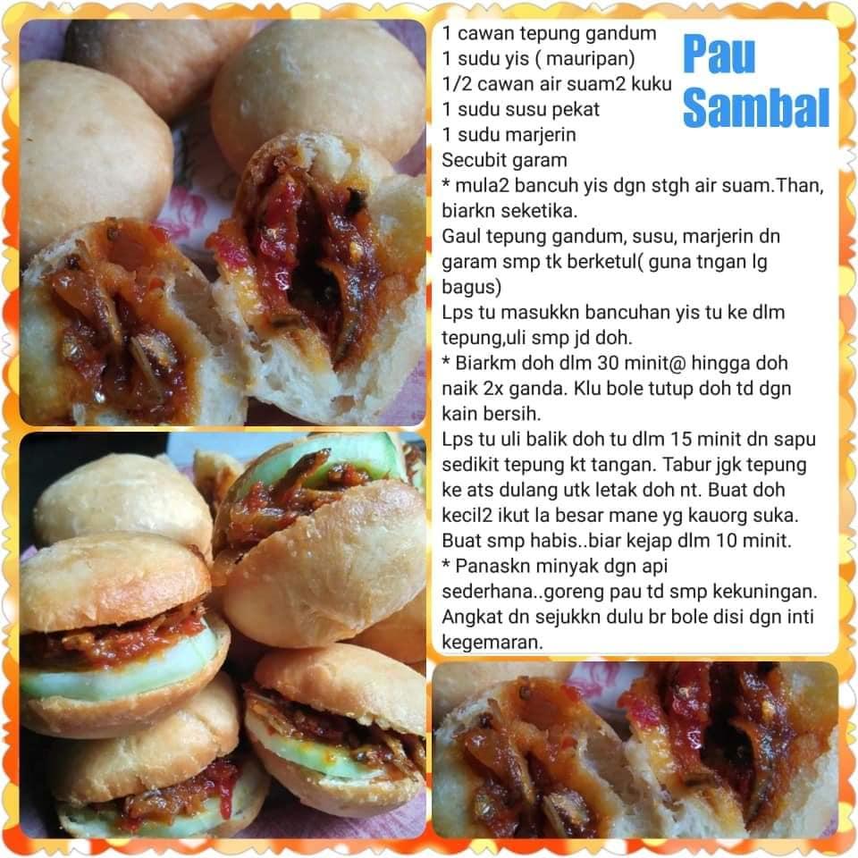 resepi pau sambal