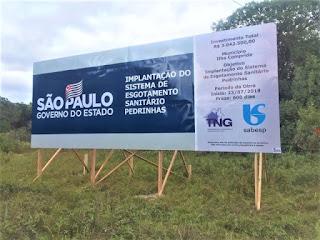 Pedrinhas receberá investimento de R$ 3 milhões para obras de esgotamento sanitário