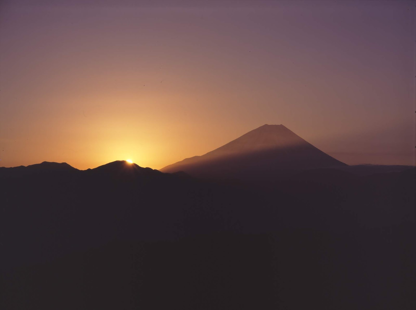 櫛形山 富士山 4×5カメラ
