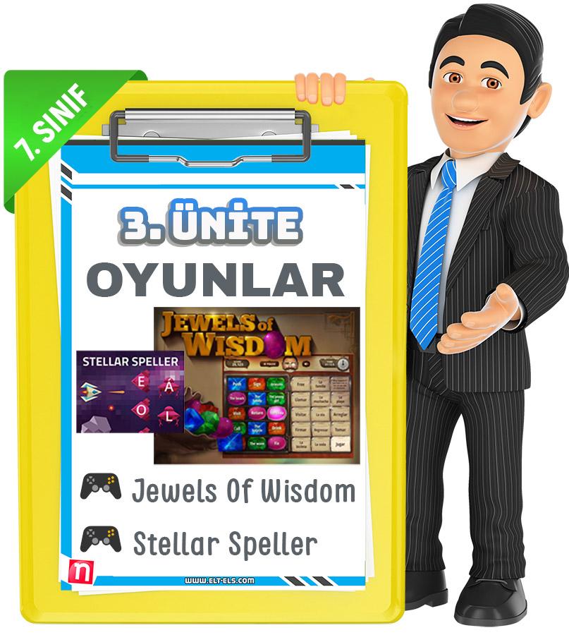7. Sınıf İngilizce cram oyunları