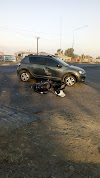Accidente en la Ex entrada principal de la ciudad de Alberdi