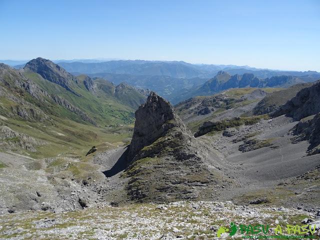 Ruta Peña Ubiña por la Arista Norte: Vista desde el Prau Capón