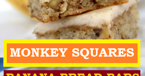Monkey Squares Banana Bread Bars Easy Recipes