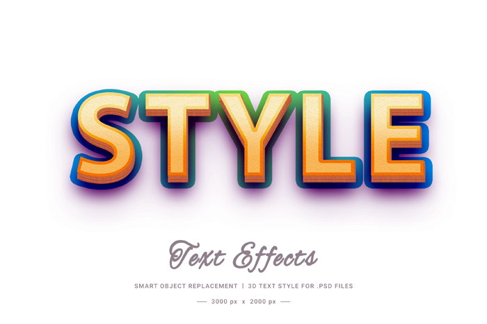 3D Style Text Style Effect Psd Mockup