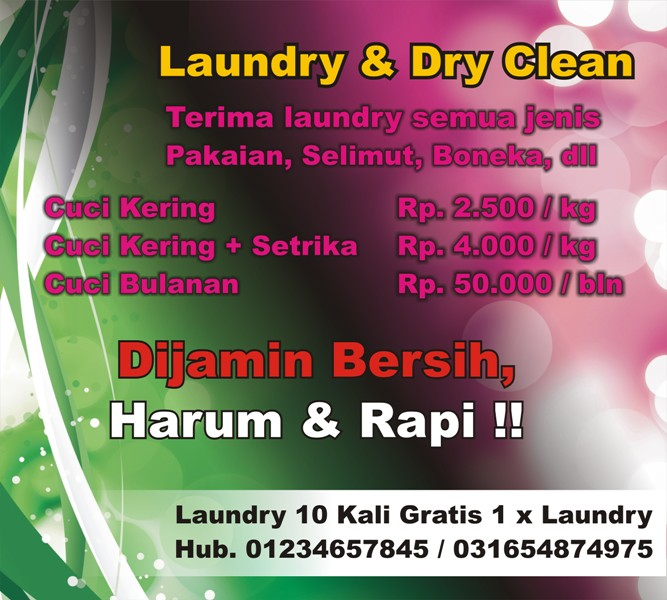 Contoh Banner Laundry - Contoh U