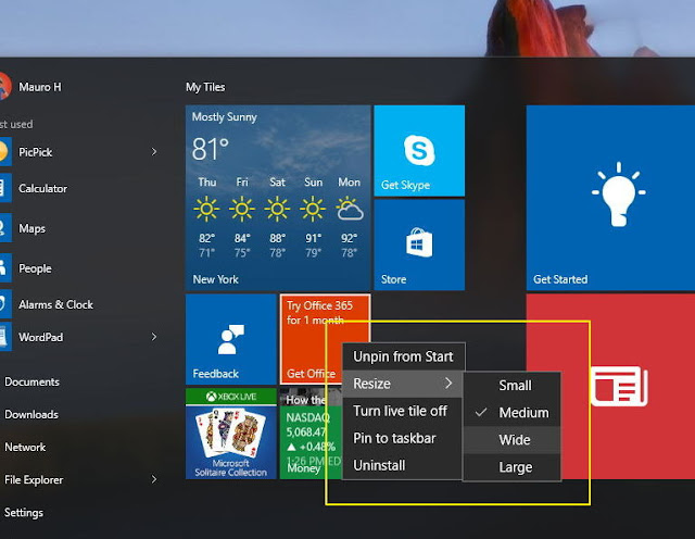 Microsoft Teases Two Live Tiles For Windows 10