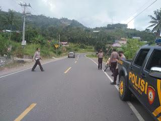 Kapolsek Alla Pimpin Langsung Patroli Balap Liar Disejumlah Tempat Di Kecamatan Alla