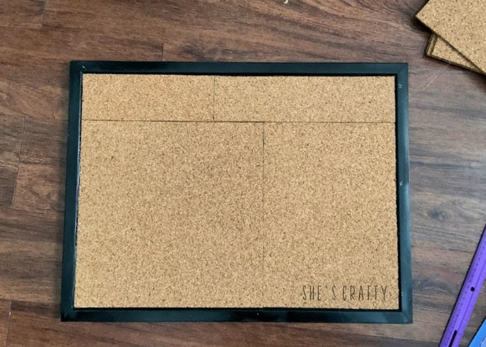 How to give an old cork board a makeover - add cork tiles if cork board is too thin