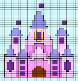 Free Disney Castle small cross stitch design