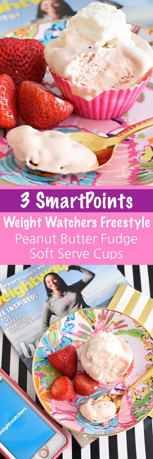 Only 3 SmartPoints: Weight Watchers Freestyle Peanut Butter Fudge Soft Serve Cups- perfect single serving treat.