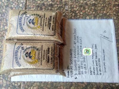 Benih padi yang dibeli TUBIAS SOEGIARTO Situbondo, Jatim. (Sebelum packing karung ).