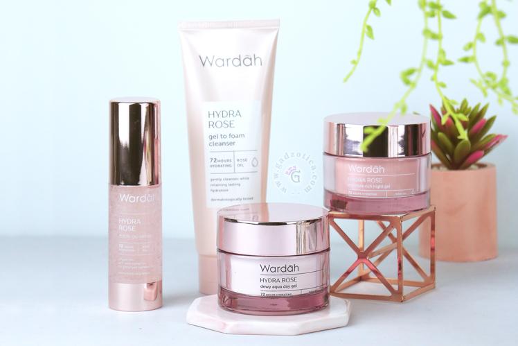 Review Wardah Hydra Rose Series Foam Cleanser Serum Day Gel Night Gel Gadzotica Blog
