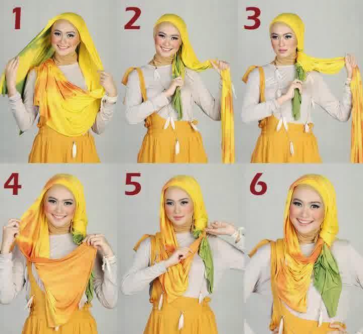 Cara Memakai Hijab Modern Namun Simple