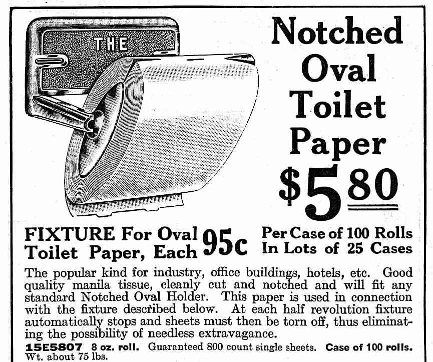 1926 toilet paper