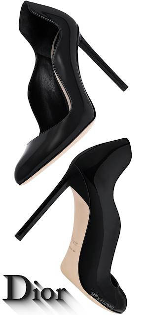 Black Dior Wave Pumps #brilliantluxury