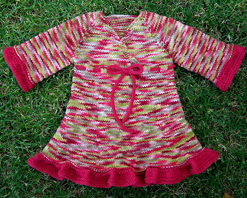 Oriental Lily Free Knitting Pattern