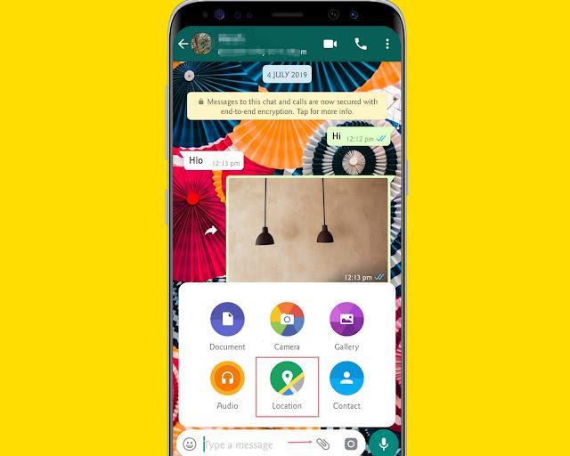 Share Your Location - WhatsApp tricks