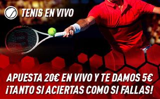 sportium Promo Tenis Por cada 20€ Te damos 5€ 11-17 marzo