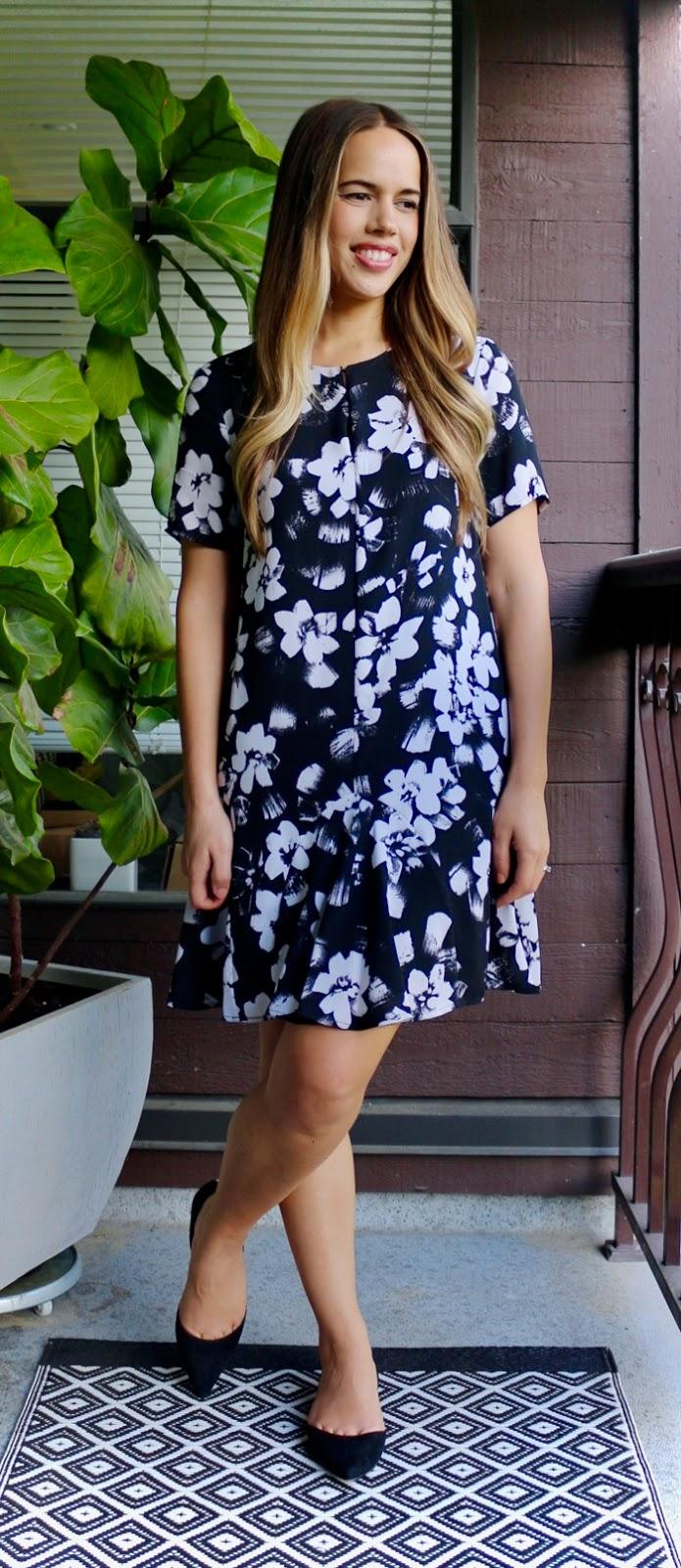 Jules in Flats - 1.State Ruffle Hem Floral Dress