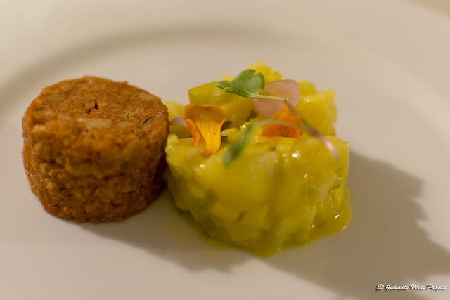 Albóndigas vegetales con ensalada de patata berlinesa por El Guisante Verde Project