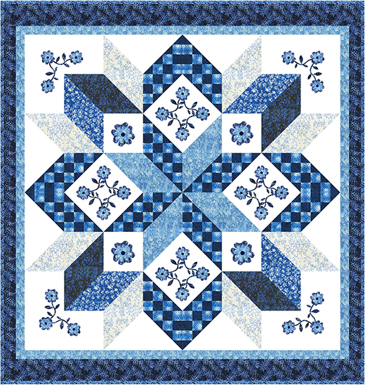 Sky Water Mill Quilt designed by Natalie Crabtree for Bear Creek Quilting Company