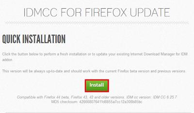 Cara Memasang Add on IDM ke Mozilla Firefox Terbaru 21