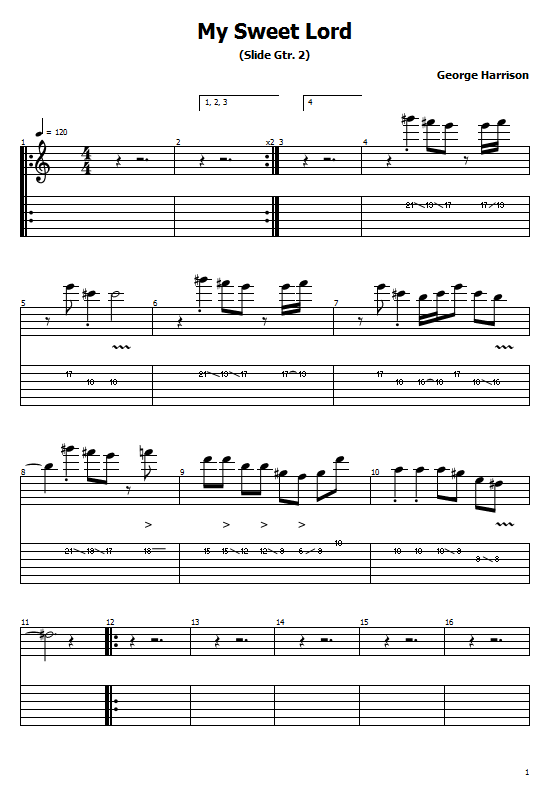 My Sweet Lord Tabs George Harrison. How To Play My Sweet Lord On Guitar Chords Free Tabs/ Sheet Music. George Harrison.