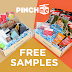 HOT!! Free PinchMe Sample Box, Get Yours Now: Free Box Of Samples!  Free PinchMe Sample Box, Get Yours Now: Free Glad Trashbags, Hint Water, Haribo Gummy Bears, Nexcare Bandages, Eva-NYC Skin Care Products, Skippy Peanut Butter, Begging Strips Dog Treats, Fancy Feast Cat Food and More