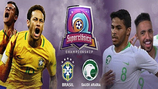 نتيجه مشاهده مباراه السعوديه والبرازيل اليوم 12-10-2018 انتهت بفوز البرازيل 2 - 0