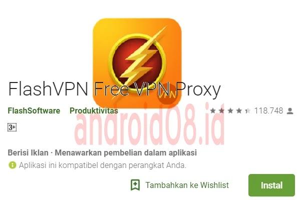 Download FlashVPN VIP No Ads Terbaru