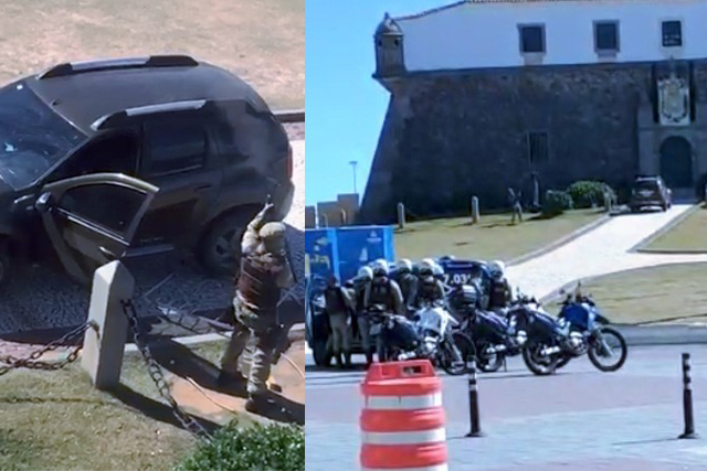 Policial sofre surto, atira contra colegas e acaba baleado em Salvador