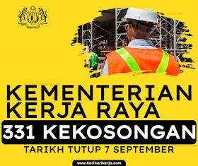 Jawatan Kosong KKR 331 Kekosongan ~ Gaji RM 2,529 - RM9,643.00
