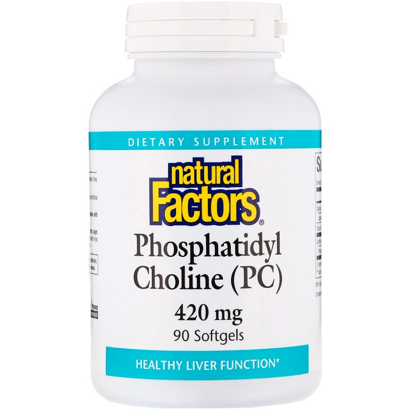 Natural Factors, фосфатидилхолин (ФХ), 420 мг, 90 мягких таблеток