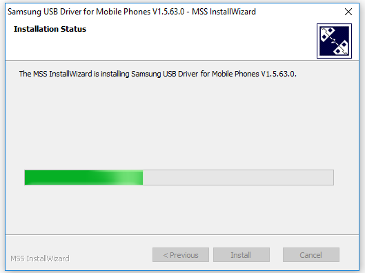 Progress Bar Samsung USB Driver Windows