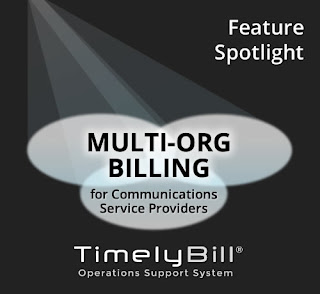 Multi-org billing for telecom
