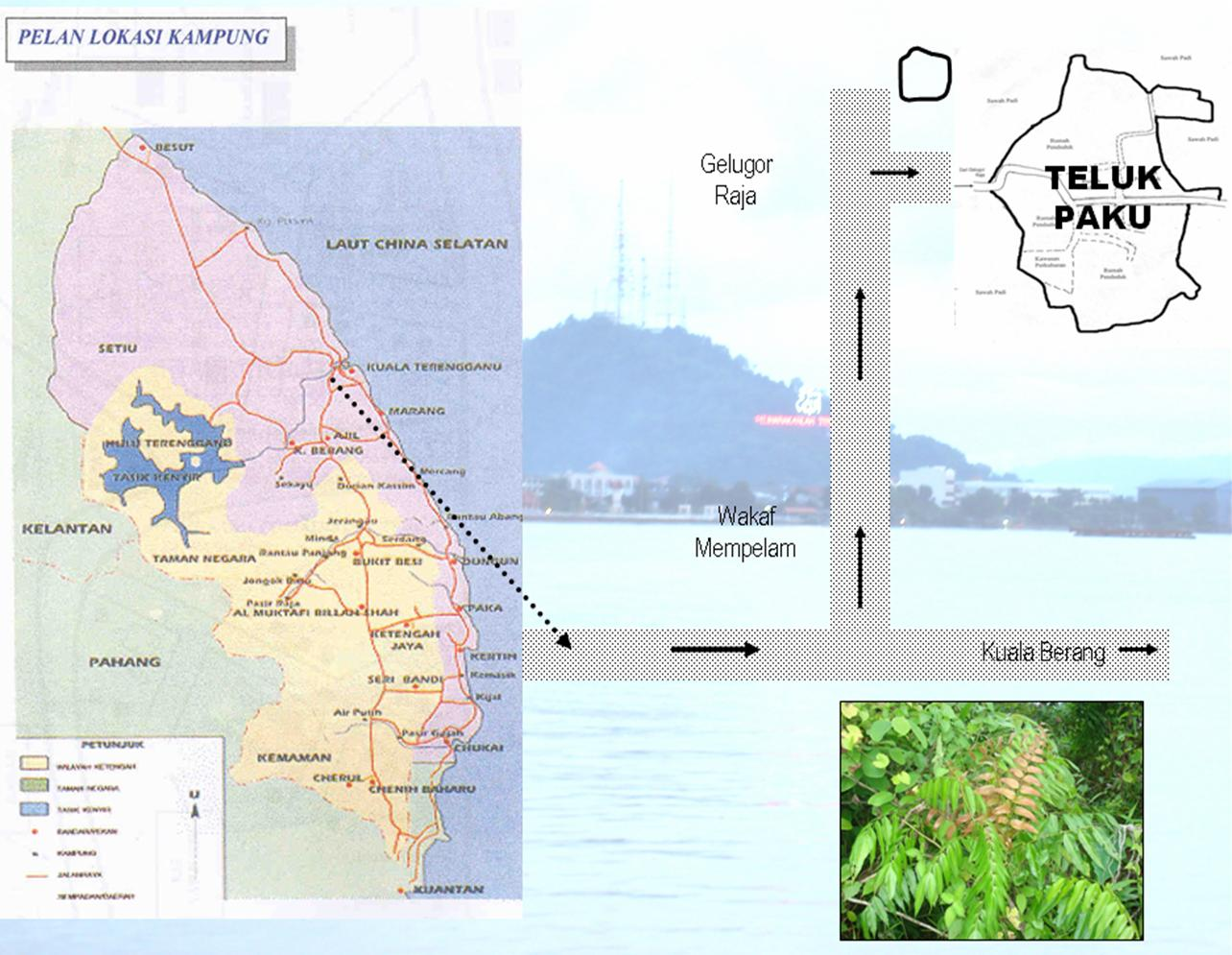 Pelan Lokasi Kampung Teluk Paku
