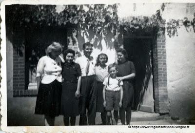 Photo de famille, ancienne noir et blanc
