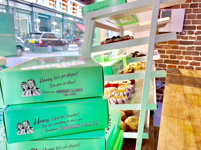 Inside doughbut time which sells vegan doughnuts in covent garden
