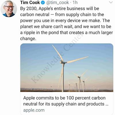 Tim Cook announced Apple aim