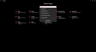 mencari menu reset this pc di settings windows