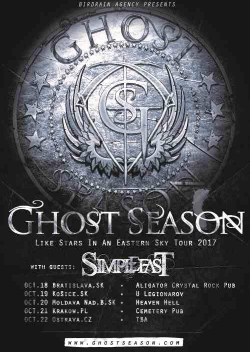 GHOST SEASON: Περιοδεία στην Ανατολική Ευρώπη