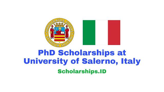 PhD Scholarships at University of Salerno, Italy