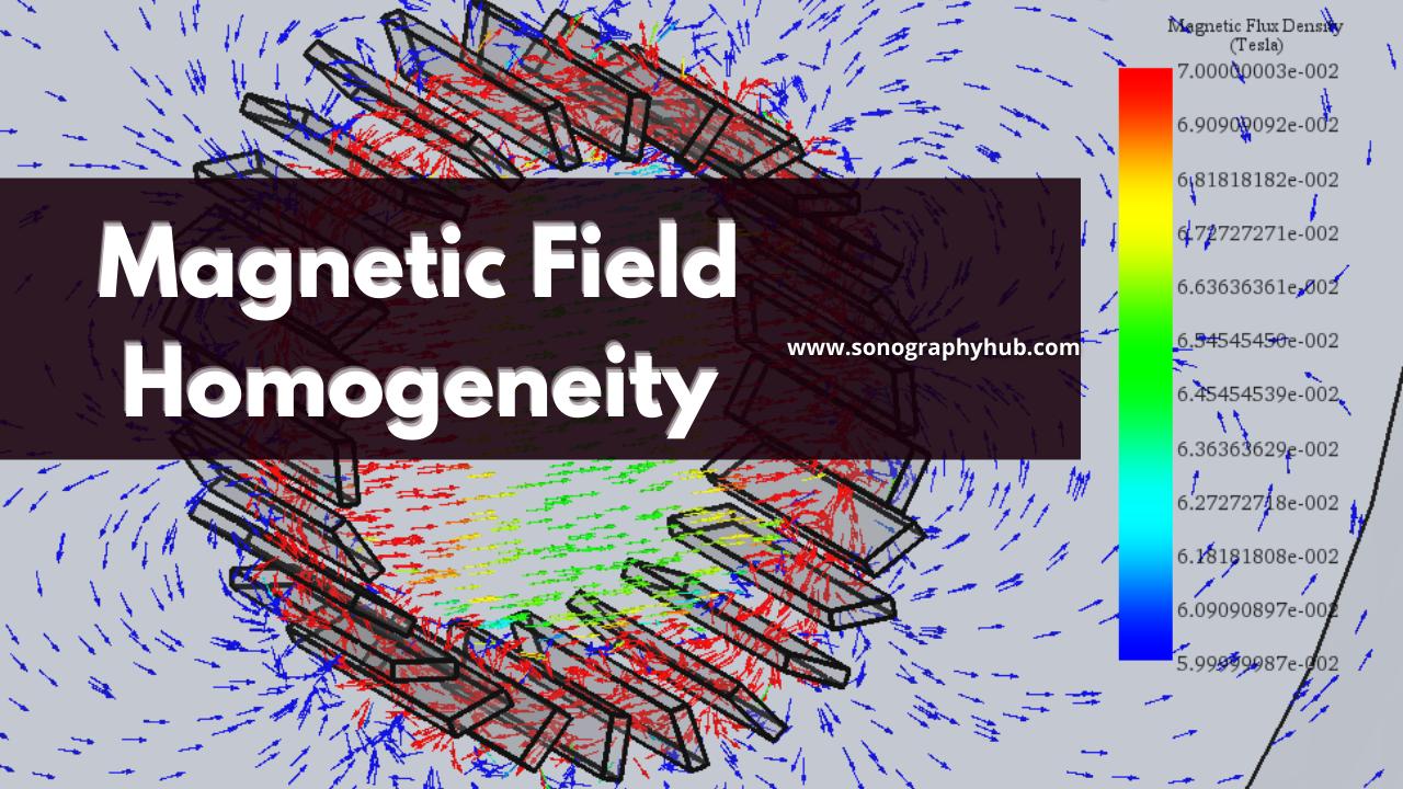 Magnetic field homogeneity, shielding